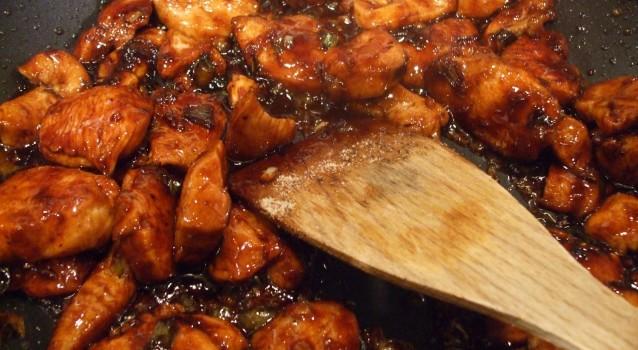 Κοτόπουλο με σόγια σος μέλι και κάσιους