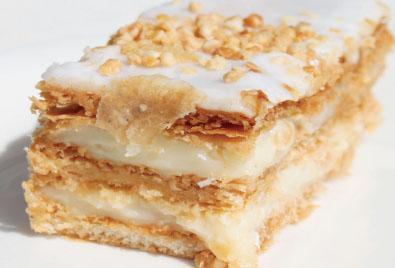 σφολιάτα Μιλφέϊγ κρέμα ζαχαροπλαστικής επιδόρπια γλυκά