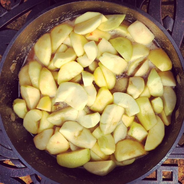 apples-in-frying-pan-in-carmel-sauce