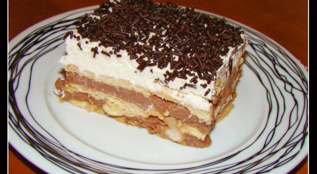 Γλυκό ψυγείου με πτι μπερ και άνθος αραβοσίτου σοκολάτα