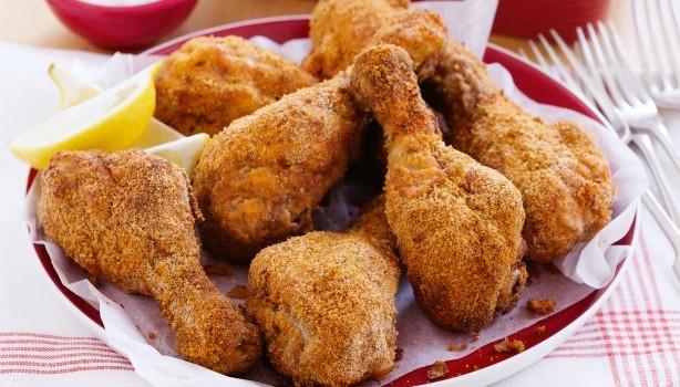 Παναρισμένα μπουτάκια κοτόπουλου με μουστάρδα