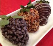 Υπέροχα και πανεύκολα σοκολατάκια με φράουλες