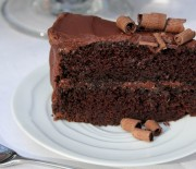 Κέικ σοκολάτας με κακάο και γκανάς κουβερτούρας