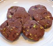 Σοκολατένια μπισκότα με σταγόνες σοκολάτας και φυστίκια Αιγίνης