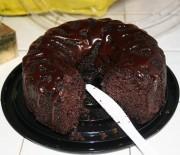 Υγρό σοκολατένιο κέικ διαίτης με φυσικό γλυκαντικό stevia