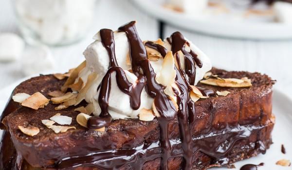 Σοκολατένιο τοστ με γέμιση ganache σοκολάτας