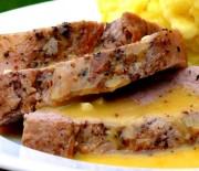 Χοιρινό ψαρονέφρι με σάλτσα μουστάρδας