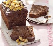 Κέικ σοκολάτας με μπανάνα και γλάσο σοκολάτας