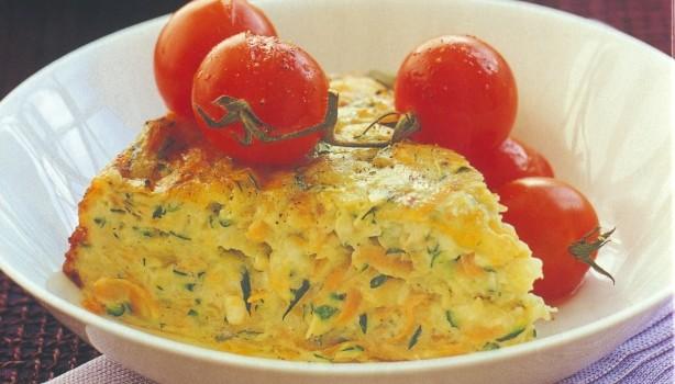 Κολοκυθόπιτα με καρότα και τυρί χωρίς φύλλο