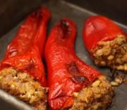 Πιπεριές Φλωρίνης γεμιστές με πλιγούρι