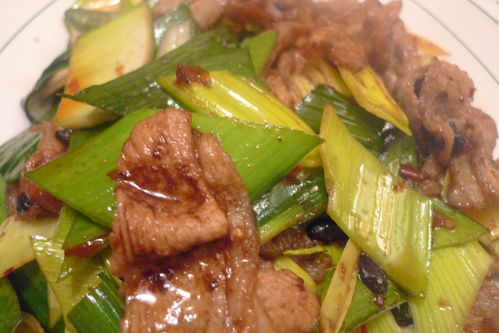 Legend Pork with Garlic Stems