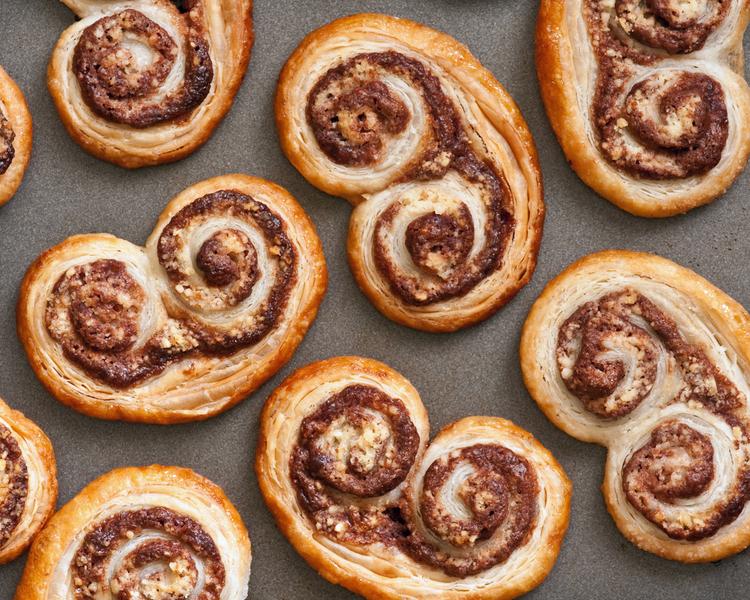 φούρνου συνταγές παλμιέ νουτέλα μπισκότα επιδόρπια γλυκά με σοκολάτα γλυκά nutella