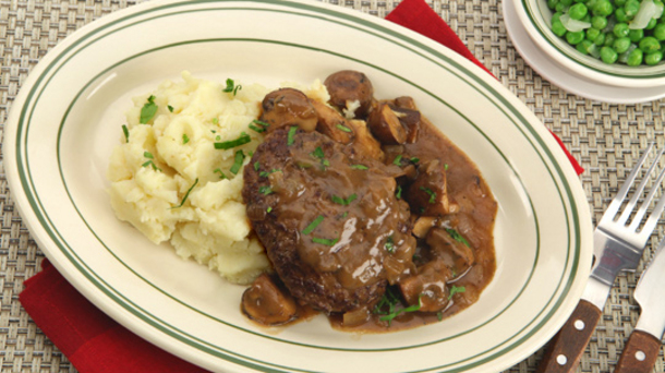 Sailbury Steak With Mushroom Gravy
