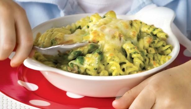 Βίδες με σπανάκι & τυριά στο φούρνο