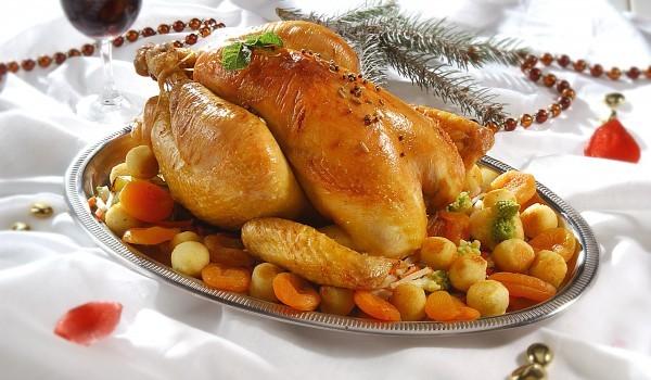 Κοτόπουλο γεμιστό με παντσέτα και μανιτάρια