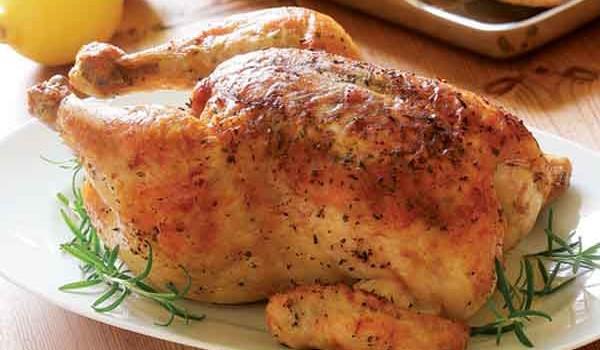 Κοτόπουλο ψητό αρωματισμένο με μείγμα μουστάρδας