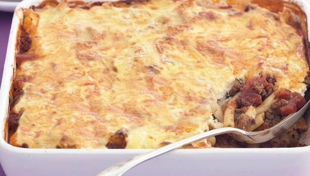 """""""Παστίτσιο"""" με τυριά χωρίς μπεσαμέλ"""
