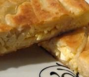 Μακαρονόπιτα με τυριά και ζαμπόν