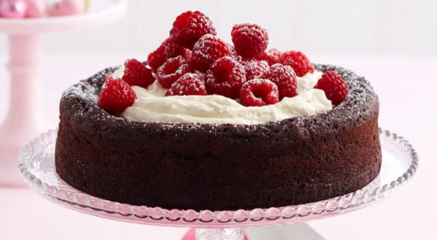 Υγρό σοκολατένιο κέϊκ χωρίς αλεύρι