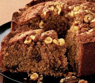 Κέικ κανέλας με Nutella και φουντούκια