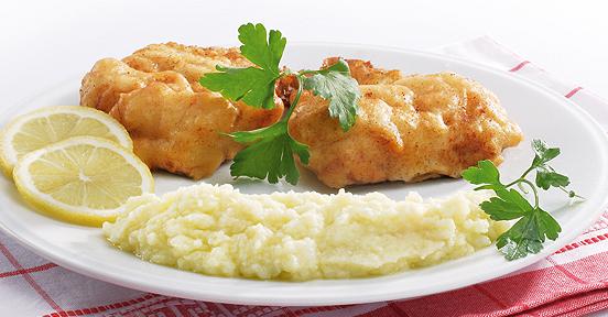 Μπακαλιάρος τηγανιτός και σκορδαλιά με πατάτα και καρυδόψιχα