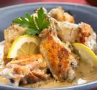 Κοτόπουλο ψητό με λεμονάτη σάλτσα γιαουρτιού