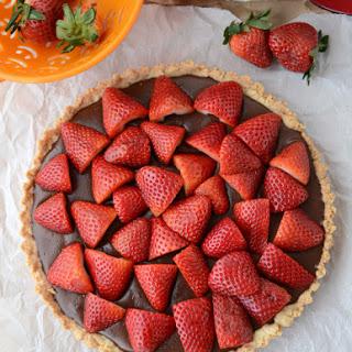 Τάρτα Nutellas με φράουλες