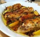 Λεμονάτο κοτόπουλο με σκόρδο και μυρωδικά