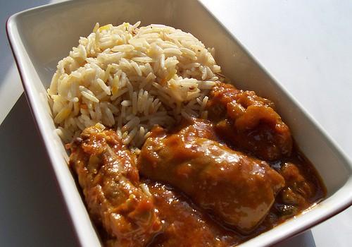 Κοτόπουλο με ινδική πικάντικη σάλτσα