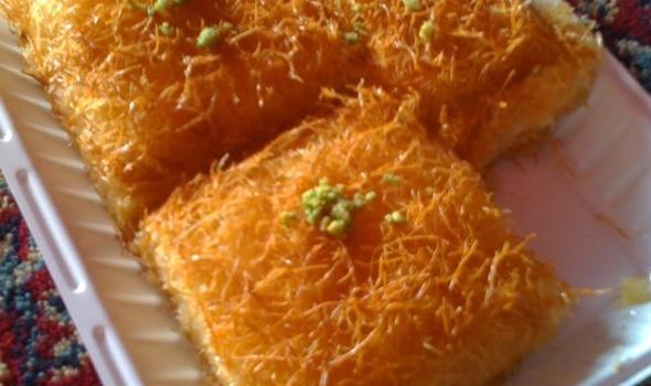 Cheesecake σιροπιαστό με φύλλο κανταΐφι