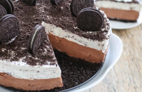 Cheesecake με Nutella και Oreo