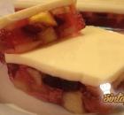 Δροσερό ζελέ με φρούτα και κρέμα γιαουρτιού διαίτης χωρίς ζάχαρη