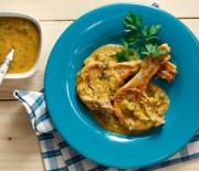 Μπριζόλες χοιρινές με σάλτσα λαχανικών