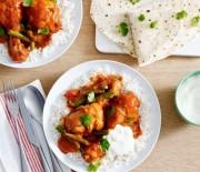Μπουτάκια κοτόπουλου με φασολάκια και ρύζι μπασμάτι