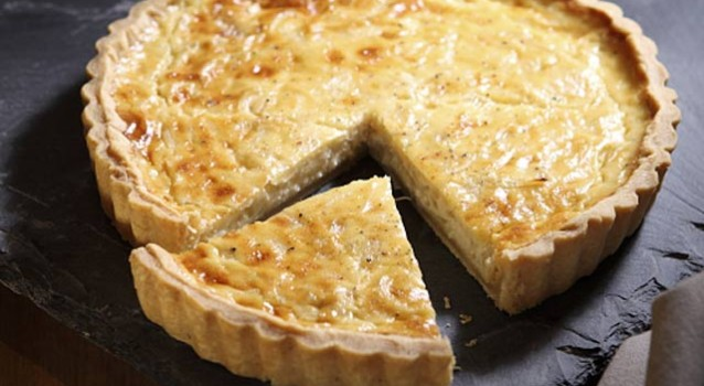 Τάρτα τυριών με ζαμπόν