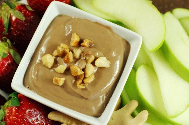 Nutella Yogurt Dip_top view 4