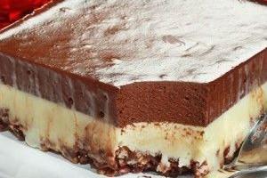 Γλύκισμα ψυγείου με διπλή σοκολάτα