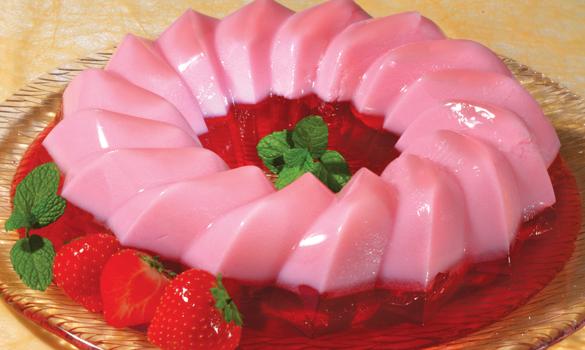 Δροσερό ζελέ φράουλας με 3 υλικά, διαίτης με λίγες θερμίδες
