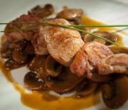 Ψαρονέφρι με σάλτσα μανιταριών και μουστάρδας