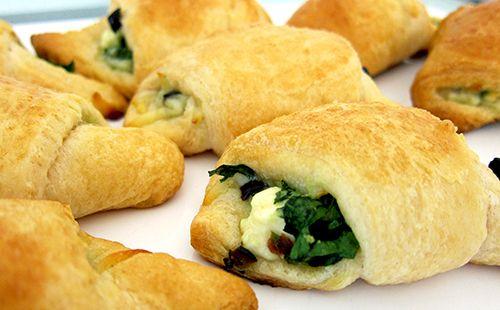 Κρουασάν με σπανάκι και τυρί φέτα