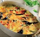 Σαγανάκι φούρνου με μελιτζάνες