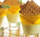 Κρέμα και ζελέ λεμονιού με μπισκότα