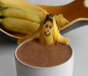 Smoothies σοκολάτας με μπανάνα