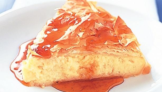 Γαλακτομπούρεκο με σιρόπι πορτοκαλιού