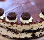 Cheesecake με μπισκότα όρεο χωρίς ψήσιμο (Video)