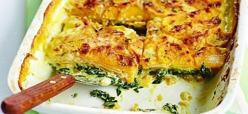 Πίτα με σπανάκι, πατάτες και τυριά