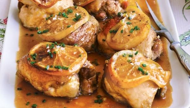 Πικάντικο κοτόπουλο με σάλτσα πορτοκαλιού