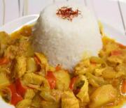 Υπέροχο κοτόπουλο με λαχανικά σε πικάντικη σάλτσα κάρυ
