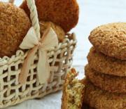 Τραγανά μπισκότα ινδοκάρυδου