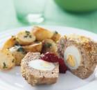 Ρολάκια ατομικά με κιμά κοτόπουλου και λεμονάτες πατάτες